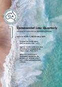 Commercial law quarterly : the journal of the Commercial Law Association of Australia