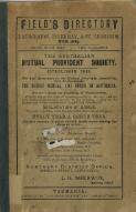 Field's directory of Launceston, Invermay and St. Leonards 1885