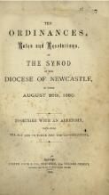 The Ordinances, rules and resolutions of the Synod of the Diocese of Newcastle