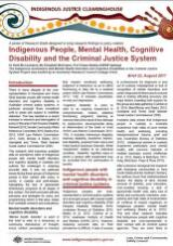 Thumbnail - Indigenous People, Mental Health, Cognitive Disability and the Criminal Justice System.