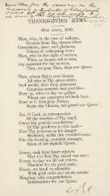 Thanksgiving hymn, 28th April, 1868 / [W.B. Clarke]
