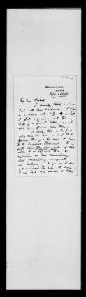 Hicks Beach to R. Herbert, 25 September 1878,  (Item),  (from Collections held by the Gloucestershire Record Office  / Papers of Sir Michael Hicks Beach  (D 2455) / Papers relating to Australia and New Zealand  (PCC/62))