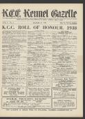 K.C.C. ROLL OF HONOUR, 1938 (1 March 1939)