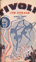 """Tivoli No. 26: Jim Gerald and his Musical Comedy Company in """"Toot Aussie"""" 16th Week Commencing July 28th, 1933"""